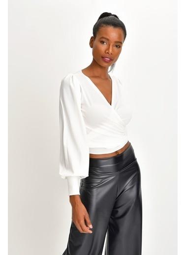 Quincey Bluz Beyaz